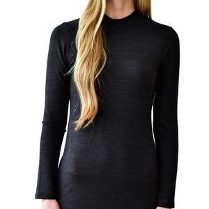 Gentle Fawn long-sleeve black mockneck dress